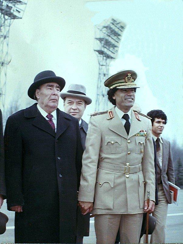 Встреча Брежнева с ещё довольно молодым ливийским лидером Каддафи, 1976 СССР, история, фотографии в цвете