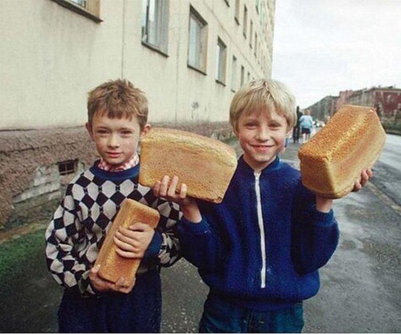 Нельзя было просто так взять и не надкусить корку !! СССР, история, фотографии в цвете