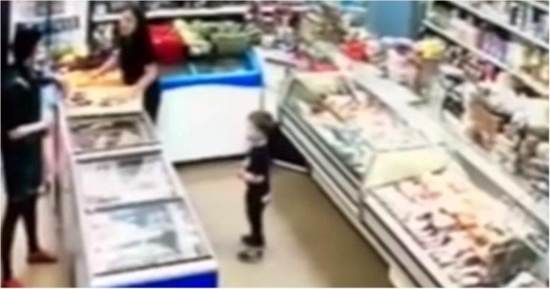 Пьяная мамаша разгромила магазин в Подмосковье ПОДМОСКОВЬЕ, видео, конфликт, магазин, неадекват, продавец, россия, яжмать