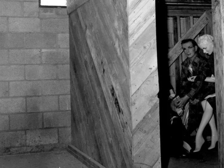 4. Манекены в штате Невада, США, 1950-е. Жуткие фото, жутко, интересно, исторические фото, история, необъяснимое, редкие фото, фото