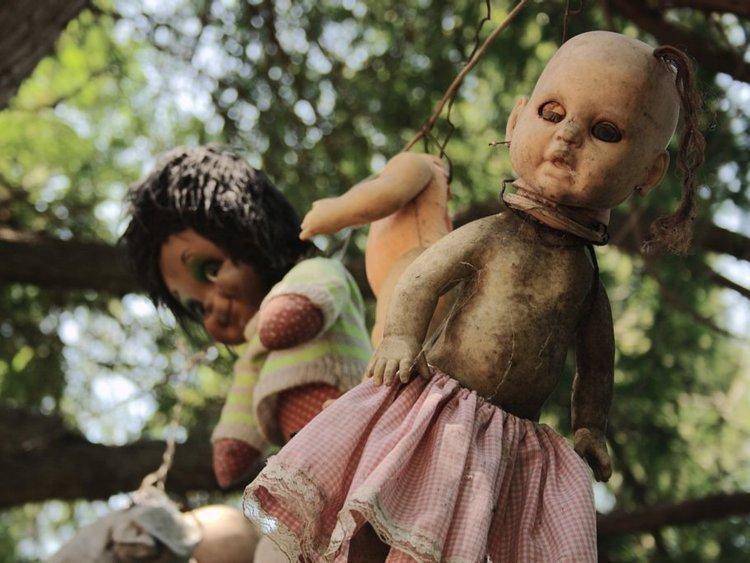 12. Жуткий остров кукол в Мексике. По легенде, единственный житель острова, Дон Хулиан Сантана, нашел в канале тело утонувшей девочки. Он начал собирать кукол для нее, и продолжал на протяжении многих лет, пока сам не утонул в том же водоеме. Жуткие фото, жутко, интересно, исторические фото, история, необъяснимое, редкие фото, фото
