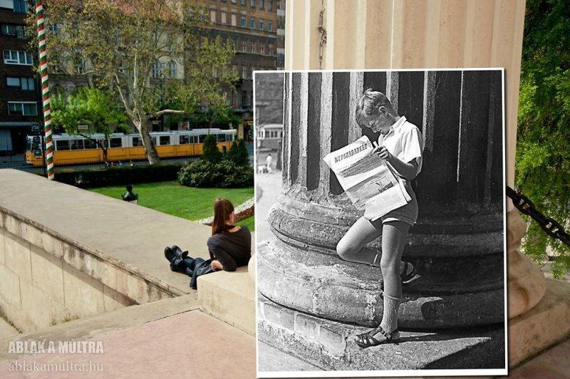 Путешествие во времени: фотограф соединяет в снимках прошлое и настоящее венгрия, винтаж, история, прошлое и настоящее, ретро фото, тогда и сейчас, фото, фотограф