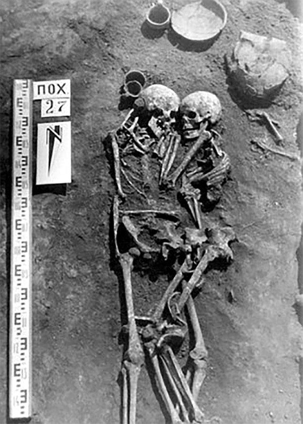 Для Высоцкой культуры характерны парные захоронения археология, захоронение, могила, наука, пара, украина, ученый