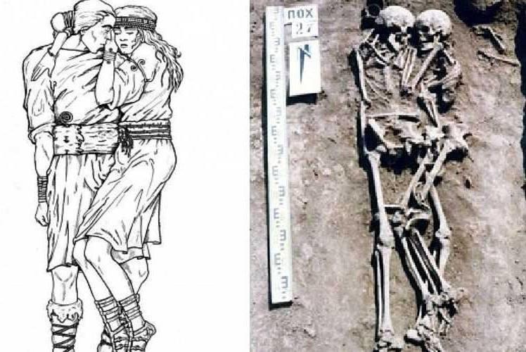 Экспедиция под руководством профессора Николая Бандривского нашла останки мужчины и женщины, сплетенных в объятиях   археология, захоронение, могила, наука, пара, украина, ученый
