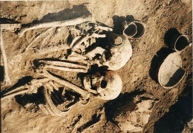 В ходе раскопок возле села Петрикова на окраине Тернополя археологи обнаружили захоронение 3000-летней давности   археология, захоронение, могила, наука, пара, украина, ученый