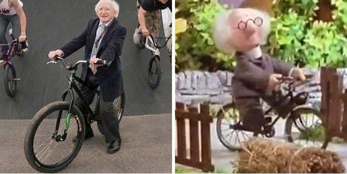 """14. Копия мистера Хиггинса в британском мультфильме """"Pat the postman"""" в мире, интересные люди, ирландия, народная любовь, политика, политики, президент, фото"""