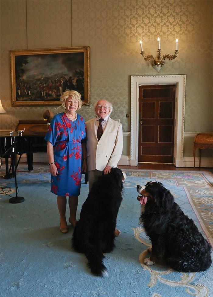 13. Мистер Хиггинс с супругой Сабиной Койн в мире, интересные люди, ирландия, народная любовь, политика, политики, президент, фото