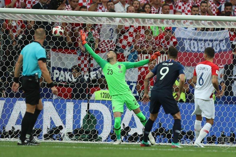 1й гол Франции спорт, франция, футбол, чм2018