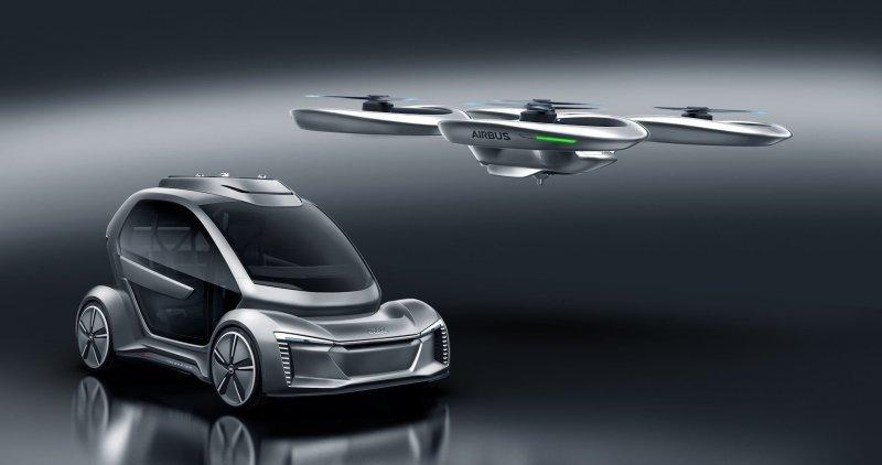В марте 2018 года на автосалоне в Женеве дебютировал необычный проект под названием Pop.Up Next — плод совместного творчества автомобильной марки Audi, авиационной компании Airbus и дизайн-ателье ItalDesign. airbus, audi, авто, автомобили, будущее, концепт, концепт-кар, летающий автомобиль