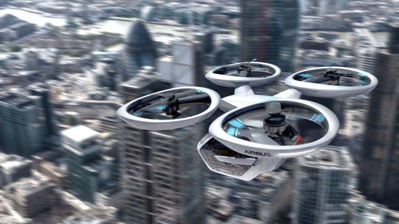 Airbus же предсказуемо будет работать над летающим дроном, который представляет собой конструкцию а-ля вертолёт из четырёх отдельных винтов, создающих подъёмную силу. airbus, audi, авто, автомобили, будущее, концепт, концепт-кар, летающий автомобиль