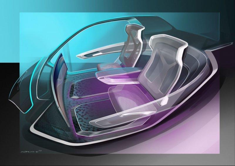 О них, кстати, позаботились. Двухместный пассажирский модуль, судя по эскизам, представляет собой кабину с большой площадью остекления, в которой нет нет абсолютно ничего лишнего. airbus, audi, авто, автомобили, будущее, концепт, концепт-кар, летающий автомобиль