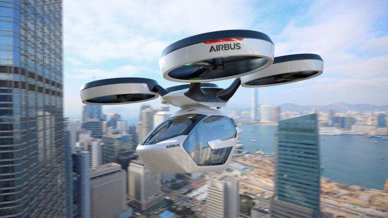 Летающий автомобиль Pop.Up Next: Audi в небе, Airbus на земле airbus, audi, авто, автомобили, будущее, концепт, концепт-кар, летающий автомобиль