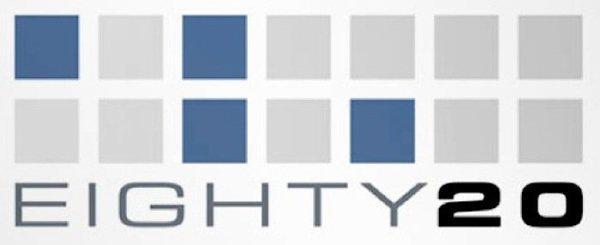 14. И, наконец, пожалуй самая сложная ассоциация. Это лого исследовательской компании Eighty20 бренд, интересно, логотип, послания