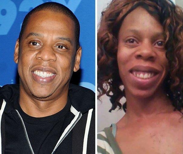Jay-Z в юбке в мире, двойник, знаменитости, люди, похожи, юмор