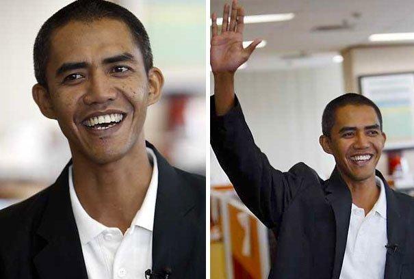 Индонезийский Барак Обама в мире, двойник, знаменитости, люди, похожи, юмор