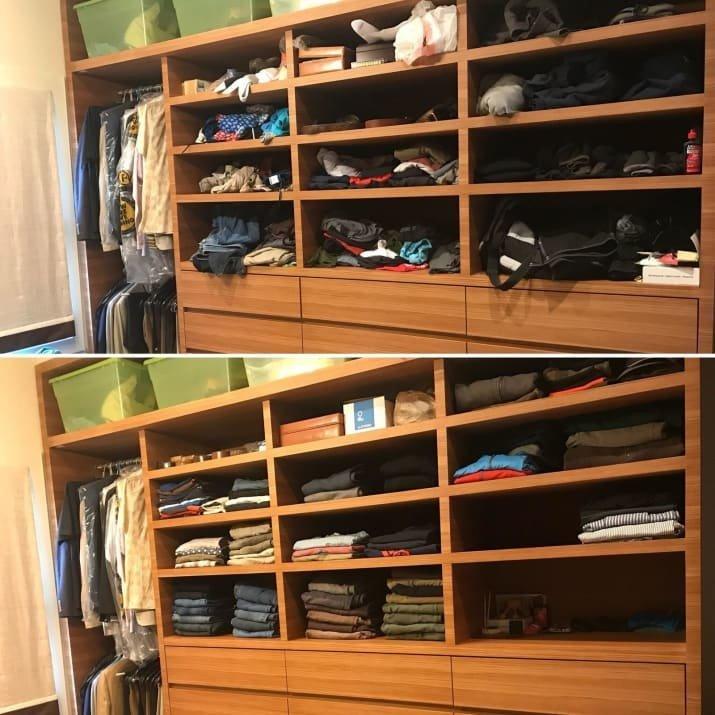 Теперь в этом шкафу можно найти любую вещь! блеск и уют, вдохновляюще, дом, домашние заботы, уборка, хозяйство, чистота в доме, чистые картинки