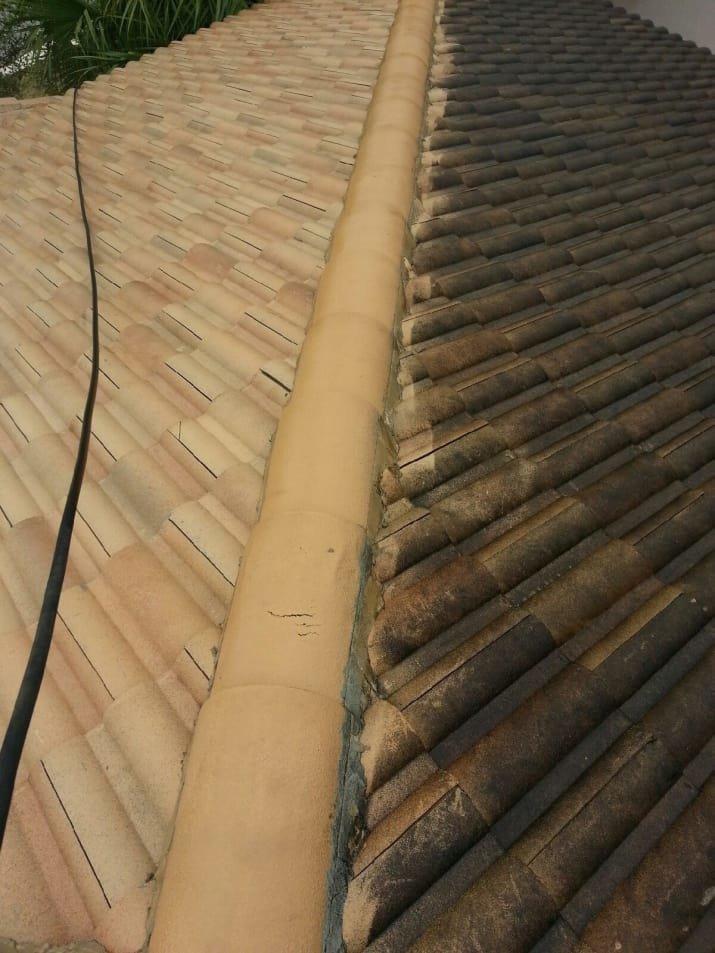 Вот какой бывает крыша, если отмыть черепицу! блеск и уют, вдохновляюще, дом, домашние заботы, уборка, хозяйство, чистота в доме, чистые картинки