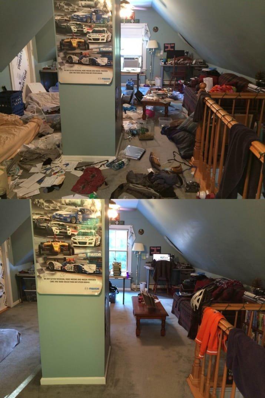 Сложно поверить, что это одна и та же комната блеск и уют, вдохновляюще, дом, домашние заботы, уборка, хозяйство, чистота в доме, чистые картинки