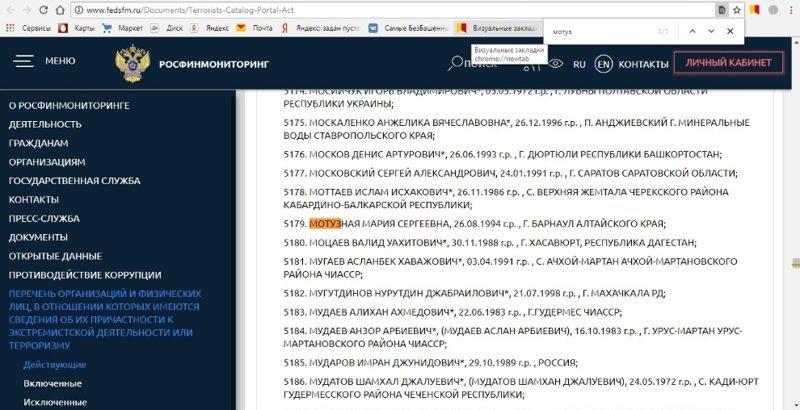 Но, несмотря на то,что суда ещё не было, Мария уже значится в списках экстремистов. ynews, интересное, картинки, мракобесие, оскорбление чувств верующих, суд, фото
