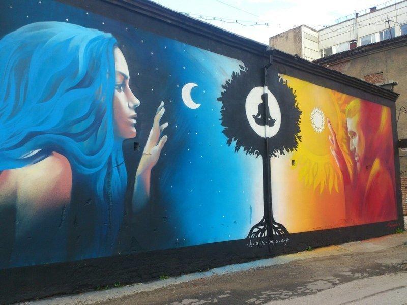 Российский стрит-арт art, город, граффити, искусство, стрит-арт, улица, эстетика