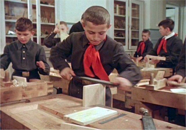 Советские люди: цветная фотохроника 1956 года 1956 год, СССР, цветные фото