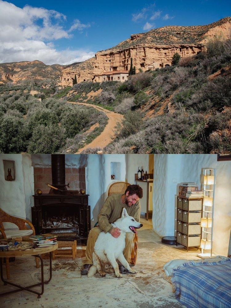 Испания: Местные жители строят свои дома в пещерах Баррио-де-Куэвас в Гуадикс в мире, достопримечательности, интересно, под землей, фото