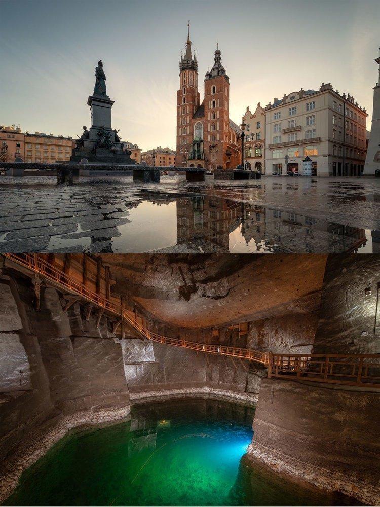 Польша: Соляная шахта «Величка» расположена совсем рядом с Краковом в мире, достопримечательности, интересно, под землей, фото