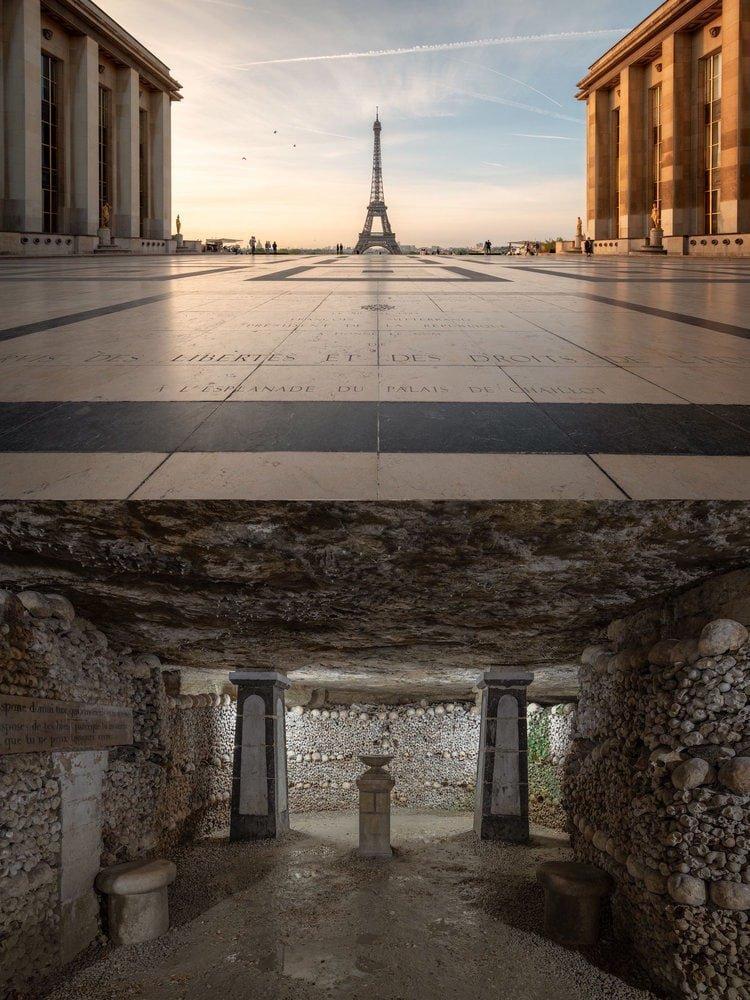 Франция: Эйфелева башня находится над парижскими катакомбами в мире, достопримечательности, интересно, под землей, фото