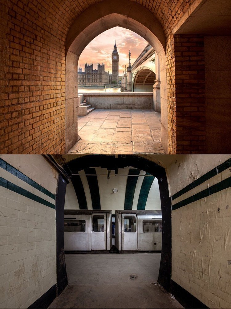 Англия: Биг-Бен расположен над заброшенной станцией метро Олдвич в мире, достопримечательности, интересно, под землей, фото