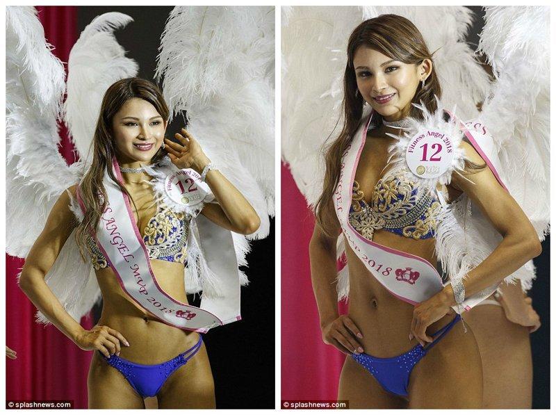 Чем не ангел? конкурс красоты, мисс бум-бум, токио, фитнес бикини, фитнес девушки, шоу, ягодицы, япония
