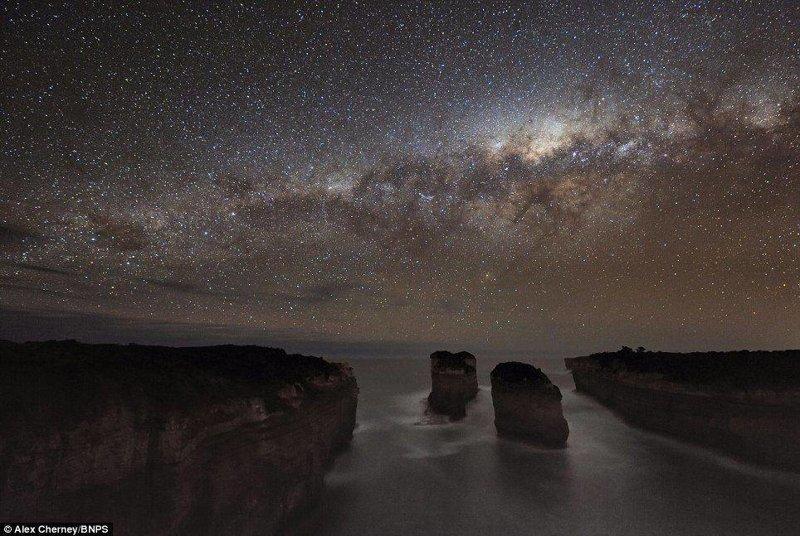 На ночь глядя звезды, космос, небо