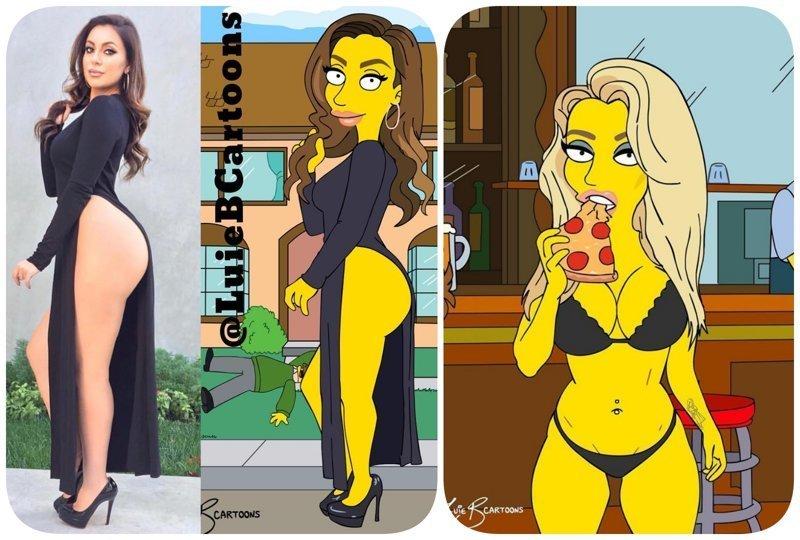 """Дизайнер превращает обычных людей в героев мультсериала """"Симпсоны"""" дизайнер, иллюстрации, картинки, мультфильм, симпсоны"""