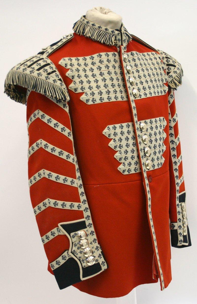 Торжественный мундир ирландских гвардейских барабанщиков, 20 век военное, история, красота, мундир