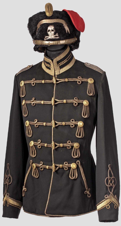 Германия; 1-й лейб-гусары, «Totenkopf». Афила офицера. Home Depot; Данциг-Langfuhr. XVII армейский корпус военное, история, красота, мундир