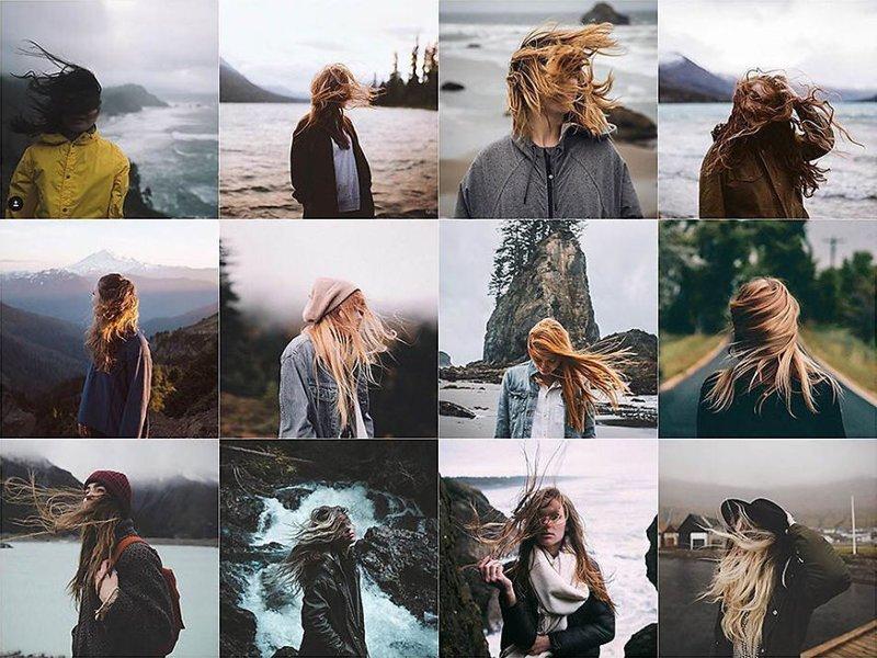 14. Ветер в волосах Instagram, коллаж, компиляция, однообразие, снимок, фотография, фотомир