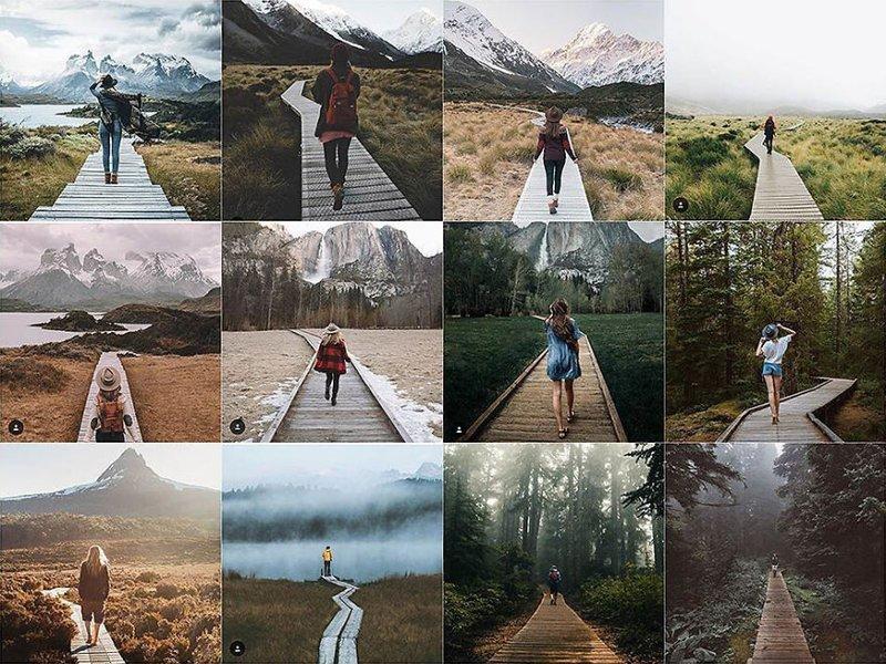 30. На дорожке Instagram, коллаж, компиляция, однообразие, снимок, фотография, фотомир