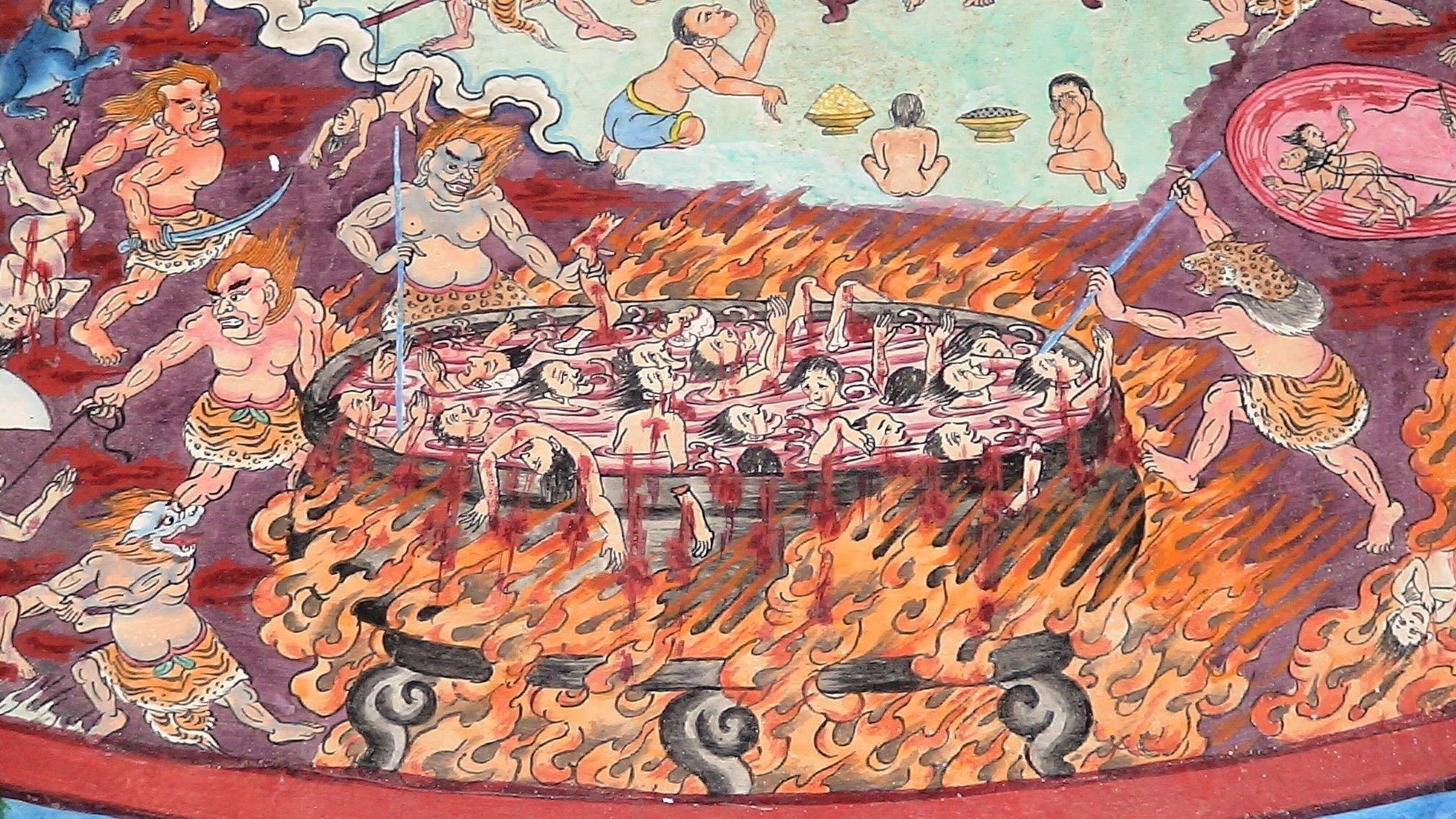 буддистский ад картинки