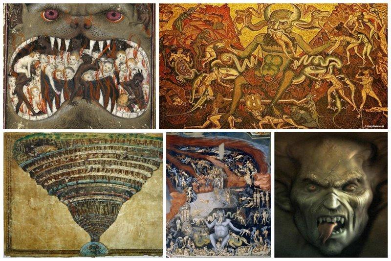 10 увлекательных описаний ада интересное, религия, факты