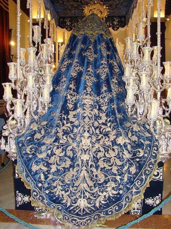 Манто для короля Испании, 1850-е вышивка, искусство. шитье, красота, старинные