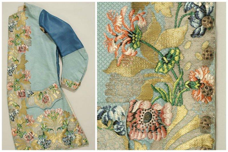 Мужской пиджак, Британия, около 1690–1763 гг. вышивка, искусство. шитье, красота, старинные