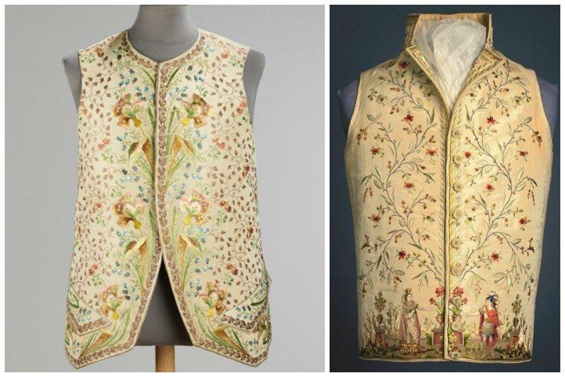 И прочие мужские жилеты 18-го века вышивка, искусство. шитье, красота, старинные