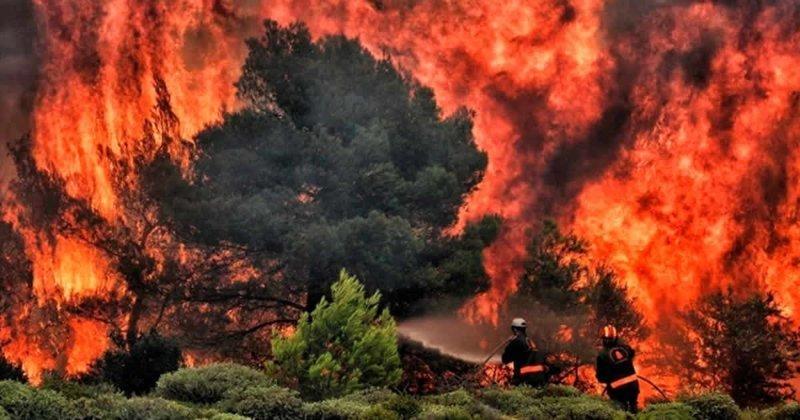 Сильные пожары в Греции