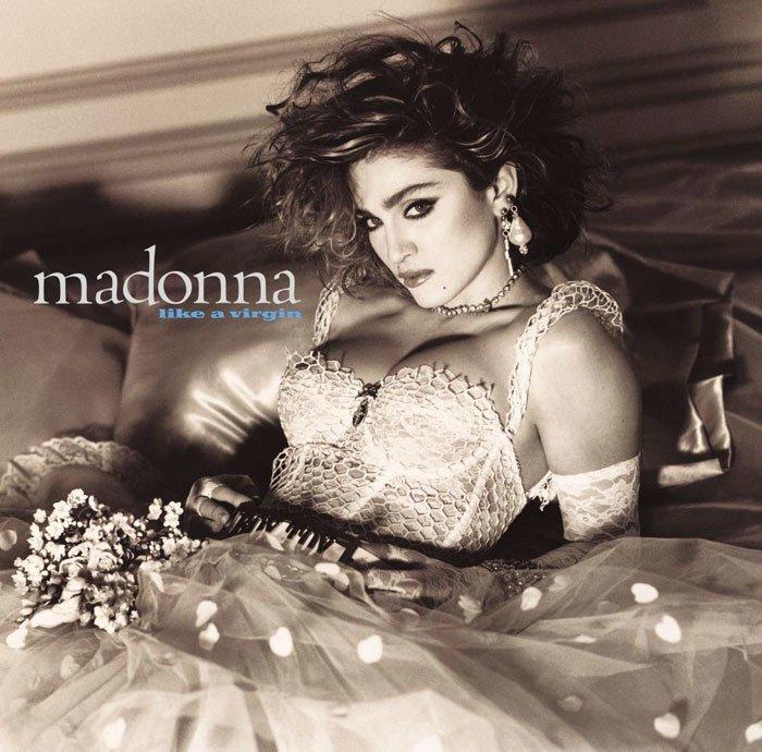 Обложка альбома Like A Virgin благотворительная деятельность, и такое бывает, мадонна, собака, собака - улыбака, фотограф, фотопроект, фэшн