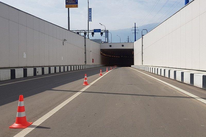 Хорошая новость - на Калужском шоссе вблизи поселка Газопровод появились разворотный тоннель и новый надземный пешеходный переход Сергей Собянин, новости, стройка, тоннель, улучшения