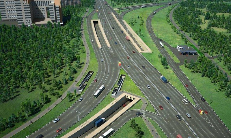 Сегодня реконструкция Калужского шоссе активно продолжается Сергей Собянин, новости, стройка, тоннель, улучшения