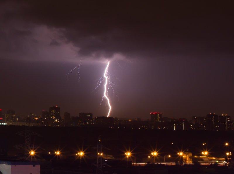 Гроза над Москвой молнии, своими руками, сделай сам