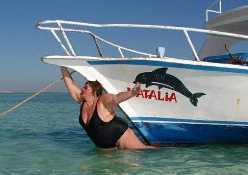 4. Есть все-таки корабли, которые тонут, даже не отплывая от берега отдых, отпуск, русские туристы, туристы, фото