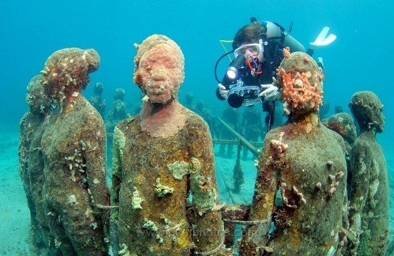 8. Подводный парк скульптур в Карибском море China, интересно, китай, музеи, туризм
