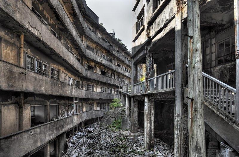 Города-призраки на карте мира. Часть 5: Хасима, Япония Хасима, заброшенное, остров, эстетика, япония
