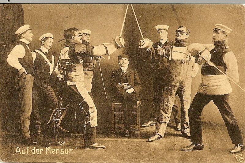 Мензурное фехтование - проверка на мужественность германия, история, мензур, мензурное фехтование, мужчина, познавательно, факт, фехтование